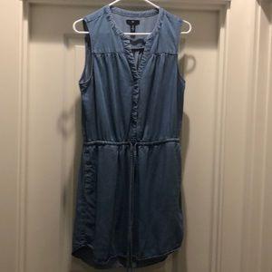 Gap Chambray Denim Shirt Dress